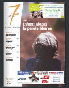 Le7 hebdo couverture Enfance V(i)olée